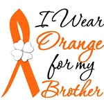 I Wear Orange Flower Brother Leukemia Shirts