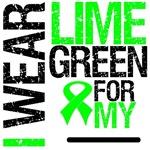 I Wear Lime Green Ribbon Grunge Shirts & Gifts