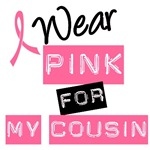 I Wear Pink Ribbon For My Cousin Label T-Shirts