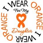 I Wear Orange Daughter Leukemia Shirts