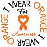 I Wear Orange Ribbon Awareness Leukemia Shirts