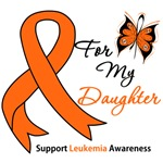 Leukemia Ribbon For My Daughter Shirts & Gifts