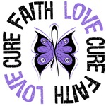 Hodgkin's Lymphoma FAITH LOVE CURE Shirts & Gifts