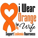 Leukemia I Wear Orange For My Wife Shirts