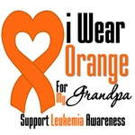 Leukemia I Wear Orange For My Grandpa Shirts