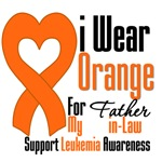 Leukemia I Wear Orange For Father-in-Law Shirts
