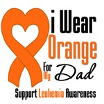 Leukemia I Wear Orange For My Dad Shirts