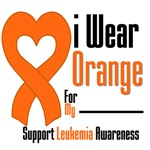 Leukemia I Wear Orange Heart Ribbon Shirts & Gifts