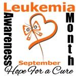 Leukemia Awareness Month Butterfly Heart T-Shirts