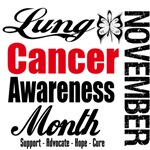 Lung Cancer Awareness Month November Shirts