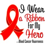 I Wear a Ribbon For My Hero Blood Cancer Shirts