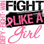 Grunge Fight Like a Girl Breast Cancer Shirts