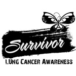 Grunge Lung Cancer Survivor