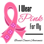 I Wear Pink Breast Cancer T-Shirts