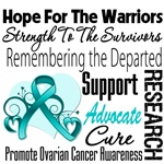 Hope Tribute Ovarian Cancer Shirts and Gifts