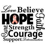 Uterine Cancer Hope Collage Shirts