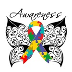 Awareness Tattoo Butterfly Autism Shirts