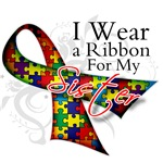 For My Sister - Autism Ribbon Shirts and Tees