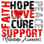 Collage Hope Cure Melanoma Shirts