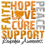 Collage Hope Cure Leukemia Shirts and Gifts