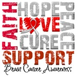 Collage Hope Cure Brain Cancer Shirts and Gifts