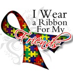 For My Friends Autism Ribbon Shirts and Gifts