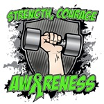 Strength Courage Awareness Lymphoma Shirts