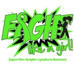 Fight Like a Girl Lymphoma Silhouette Shirts