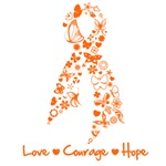 Butterfly Ribbon Multiple Sclerosis Shirts