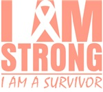 I am Strong Uterine Cancer Shirts