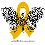 Appendix Cancer Tribal Butterfly Shirts and Gifts