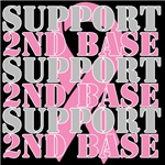 Support 2nd Base Breast Cancer Ribbon Shirts