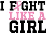 I Fight Like a Girl Breast Cancer Shirts