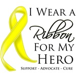 I Wear a Ribbon For My Hero Testicular Cancer Shir