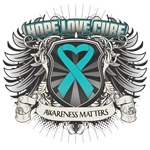 Hope Love Cure Peritoneal Cancer Shirts