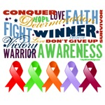 The Blood Cancers Awareness Ribbons Shirts