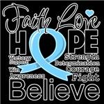 Faith Hope Prostate Cancer Shirts