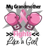 Grandmother Fights Like a Girl Breast Cancer Shirt