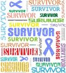 Survivor Colorful Esophageal Cancer Shirts