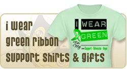 I Wear Green Ribbon BMT SCT Shirts and Gifts