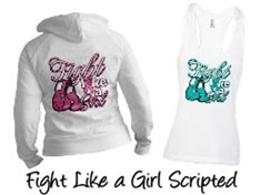 Fight Like a Girl Shirts For Awareness