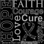 Hope Faith Courage Melanoma Shirts