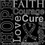 Hope Faith Courage Melanoma Shirts