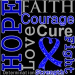 Hope Faith Courage Colon Cancer Shirts