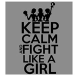 Brain Cancer Keep Calm and Fight Like a Girl