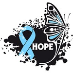 Hope Grunge Butterfly Prostate Cancer Shirts