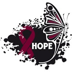 Hope Grunge Butterfly Multiple Myeloma Shirts