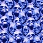 Dark Blue Skulls