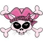 Pretty Pirate Kitty Skull