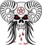 Ram Horned Skull